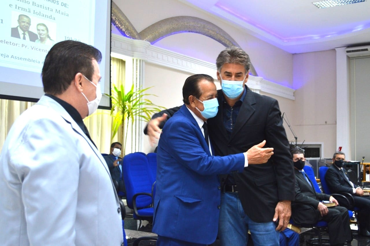 Pastor Antônio Maia e o Prefeito Paranhos