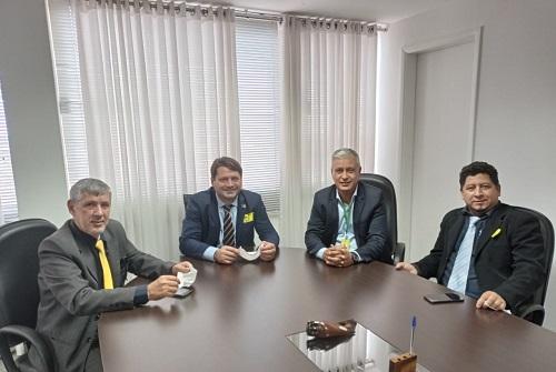 Reunião com Betão, superintendente do INCRA/Brasília