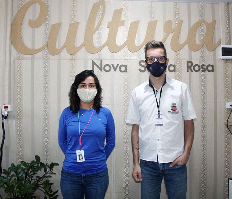 Arqueóloga, Jordana Goulart e o diretor de Cultura, Fabiano Carlos Cassimiro.