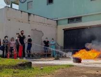 Hospital Municipal de Quedas do Iguaçu, treina equipe para brigada de incêndio