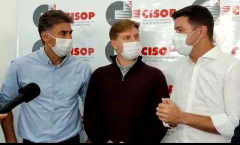 Guto Silva visita obras do Cisop em Cascavel