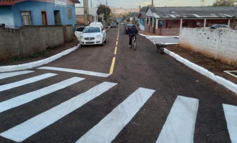 Pavimentação asfáltica melhoraram a vida dos moradores do Bairro Entre Vilas em Quedas do Iguaçu